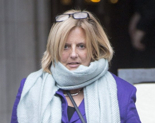 Nicola Stocker leaves the Royal Courts of Justice, London, where she is fighting a Facebook libel claim brought by her ex-husband, after telling the High Court how she feared for her life when he allegedly tried to strangle her.