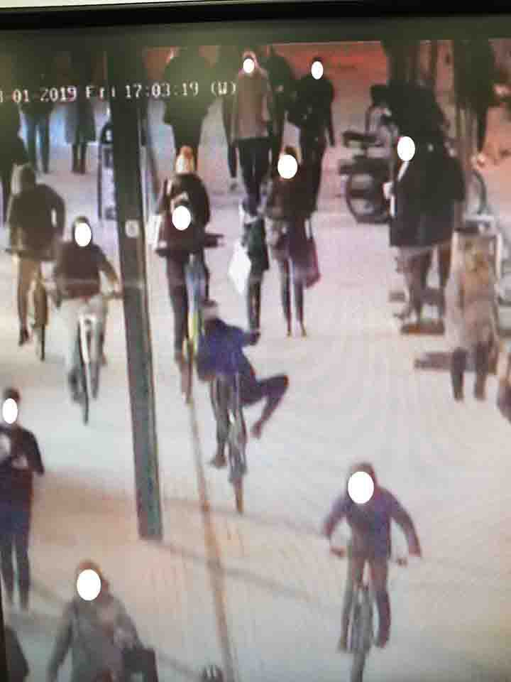These images show the huge number of yobs police say aimed their bikes at members of the public in Middlesbrough town centre. As reported, Cleveland Police banned youngsters congregating in Middlesbrough town centre on Friday and Saturday after a spike in anti-social behaviour. Officers said up to 40 youths were intimidating shoppers, riding their bikes towards them and being verbally abusive. Now the Middlesbrough Neighbourhood Policing Team has received CCTV footage from Friday night and Saturday morning and has released these images - which they say shows the scale of the problem. Gangs of youths allegedly causing anti-social behaviour in Middlesbrough town centre Credit: Middlesbrough Neighbourhood Policing Team