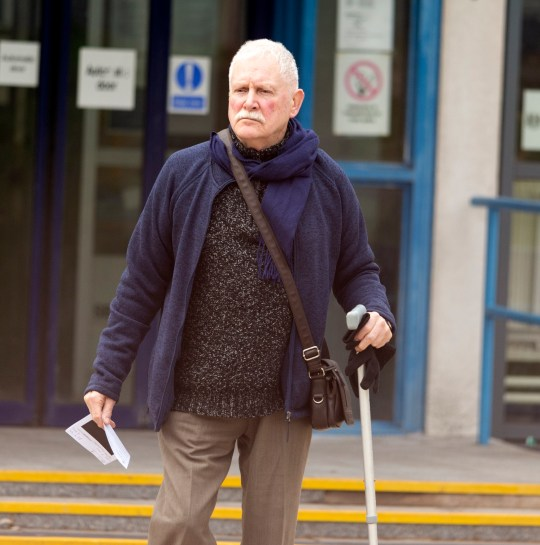 BNPS.co.uk (01202 558833) Pic: RogerAborn/BNPS John Cooper at court. A callous husband who turned off the power of his disabled wife's wheelchair because he resented being her carer has been prosecuted for emotionally abusing her. John Cooper left his partner of 43 years Joie stranded in the chair for a period of time after disabling the power. On other occasions the 76 year old put her wheelchair out of her reach, threatened to hit her with her walking stick, denied her food and took the TV remote control off her.