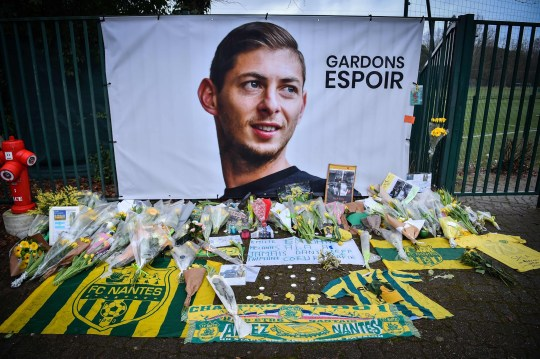 A picture shows flowers put in front of the entrance of the training center La Joneliere in La Chapelle-sur-Erdre on January 25, 2019, four days after the plane of Argentinian forward Emiliano Sala vanished during a flight from Nantes, western France, to Cardiff in Wales. - The 28-year-old Argentine striker is one of two people still missing after contact was lost with the light aircraft he was travelling in on January 21, 2019 night. Sala was on his way to the Welsh capital to train with his new teammates for the first time after completing a??15 million ($19 million) move to Cardiff City from French side Nantes on January 19. (Photo by LOIC VENANCE / AFP)LOIC VENANCE/AFP/Getty Images