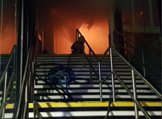Woman, 34, charged with arson after Nottingham station was set on fire Credit: Nottinghamshire Fire and Rescue Service