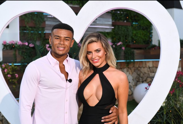 Editorial use only Mandatory Credit: Photo by James Gourley/ITV/REX/Shutterstock (9773969bj) Megan Barton Hanson and Wes Nelson 'Love Island' TV Show, Series 4, Episode 57, The Final, Majorca, Spain - 30 Jul 2018