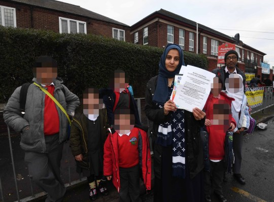 A group of Muslim parents have staged a protest outside a school with a gay teacher after claiming its sex education programme was 'over-promoting LGBT movements'. Andrew Moffat MBE, assistant headteacher at Parkfield Community School in Saltley, Birmingham, has been criticised by some parents for piloting a programme called No Outsiders Caption: Fatima Shah (holding petition), who is protesting against a sex education programme at Parkfield Community School in Saltley, Birmingham