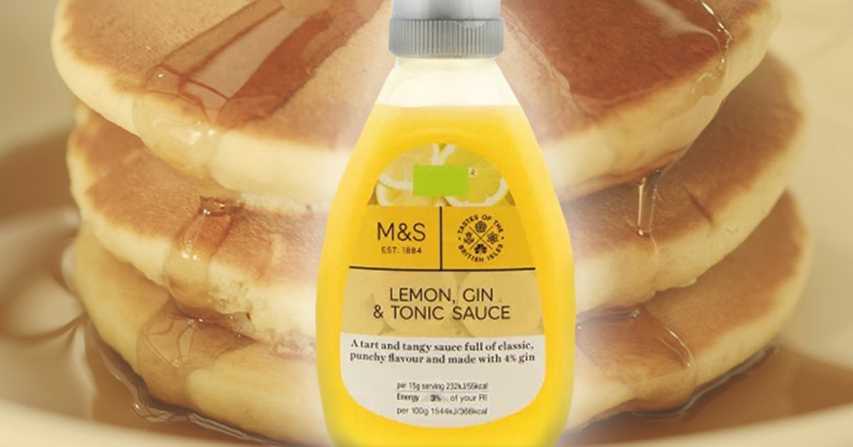 Marks & Spencer is selling gin and tonic sauce for Pancake Day