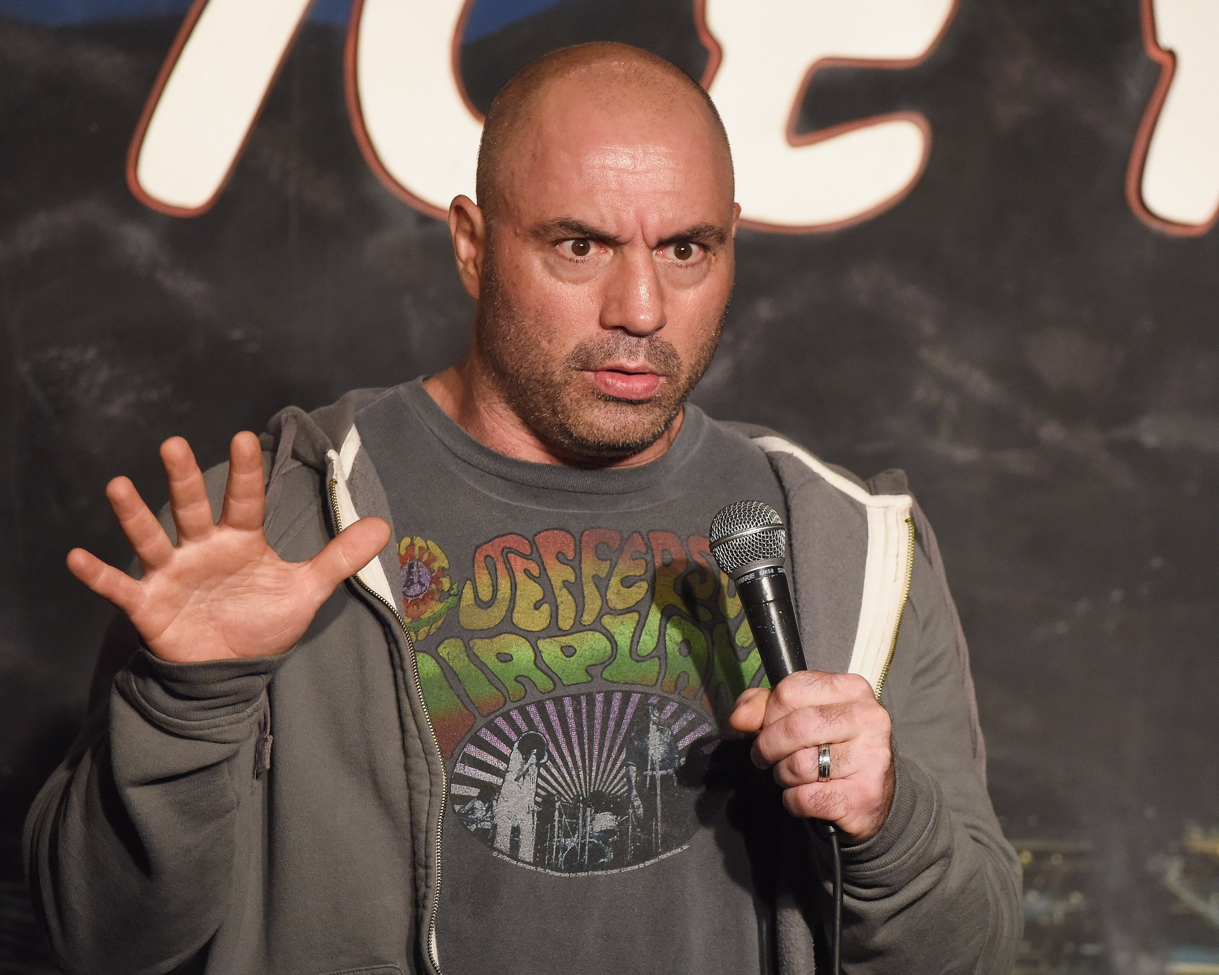 PASADENA, CA - JUNE 24: Comedian Joe Rogan performs during his appearance at The Ice House Comedy Club on June 24, 2015 in Pasadena, California. (Photo by Michael Schwartz/WireImage)