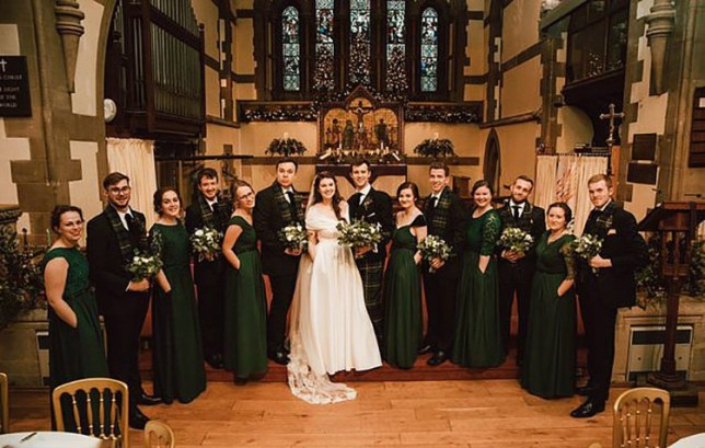 Wedding dress with pockets draws praise as bride calls for ?empowering? clothesEve Paterson has gone viral after pictures of the 24-year-old and her bridesmaids wearing the white and green outfits on her wedding day were shared thousands of times on Twitter.