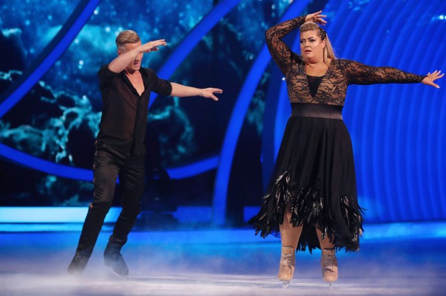 Editorial use only Mandatory Credit: Photo by Matt Frost/ITV/REX (10073862ch) Gemma Collins and Matt Evers 'Dancing on Ice' TV show, Series 11, Episode 4, Hertfordshire, UK - 27 Jan 2019