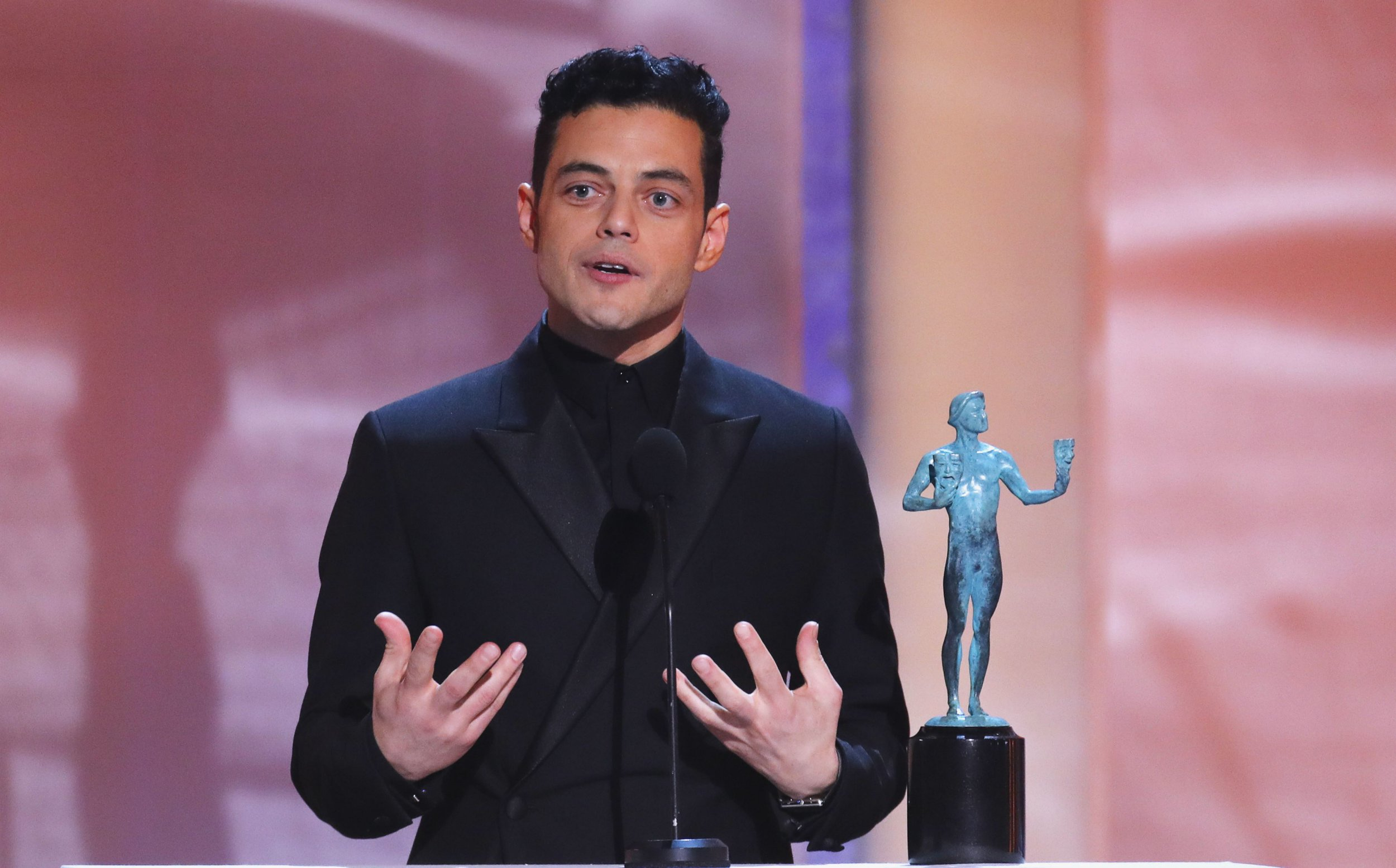 Bohemian Rhapsody's Rami Malek can't believe he beat fellow nominees including Bradley Cooper and Christian Bale at SAG Awards