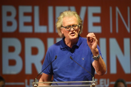 JD Wetherspoon chairman Tim Martin speaking at a Leave Means Leave rally at Central Hall in London.