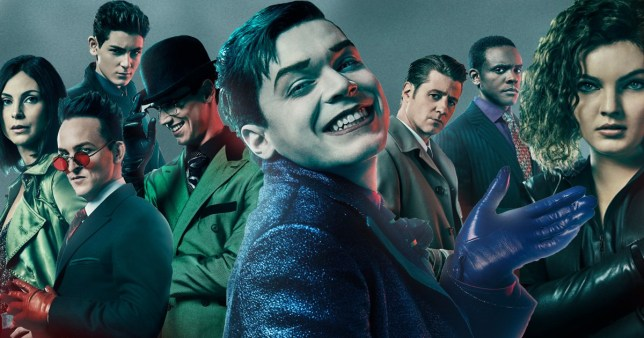 Full Gotham season 5 at poster, centred on Cameron Monaghan's Joker