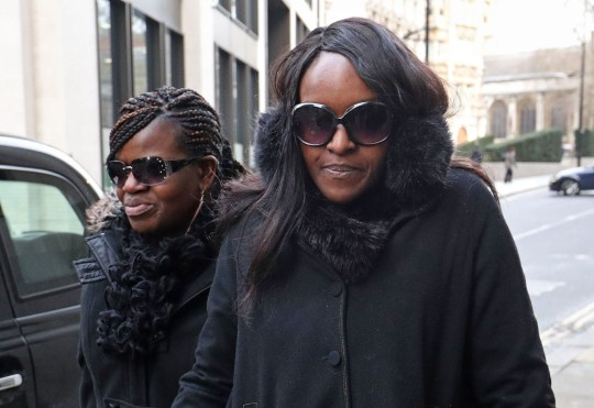 Fiona Onasanya (right) arrives at the Old Bailey, London for sentencing after lying to avoid speeding points. PRESS ASSOCIATION Photo. Picture date: Tuesday January 29, 2019. See PA story COURTS Onasanya. Photo credit should read: Jonathan Brady/PA Wire