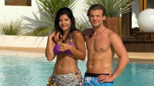 Editorial use only Mandatory Credit: Photo by ITV/REX/Shutterstock (5768736j) Cara De La Hoyde and Nathan Massey 'Love Island', Series 2 TV show, Episode 01, Mallorca, Spain - 2016