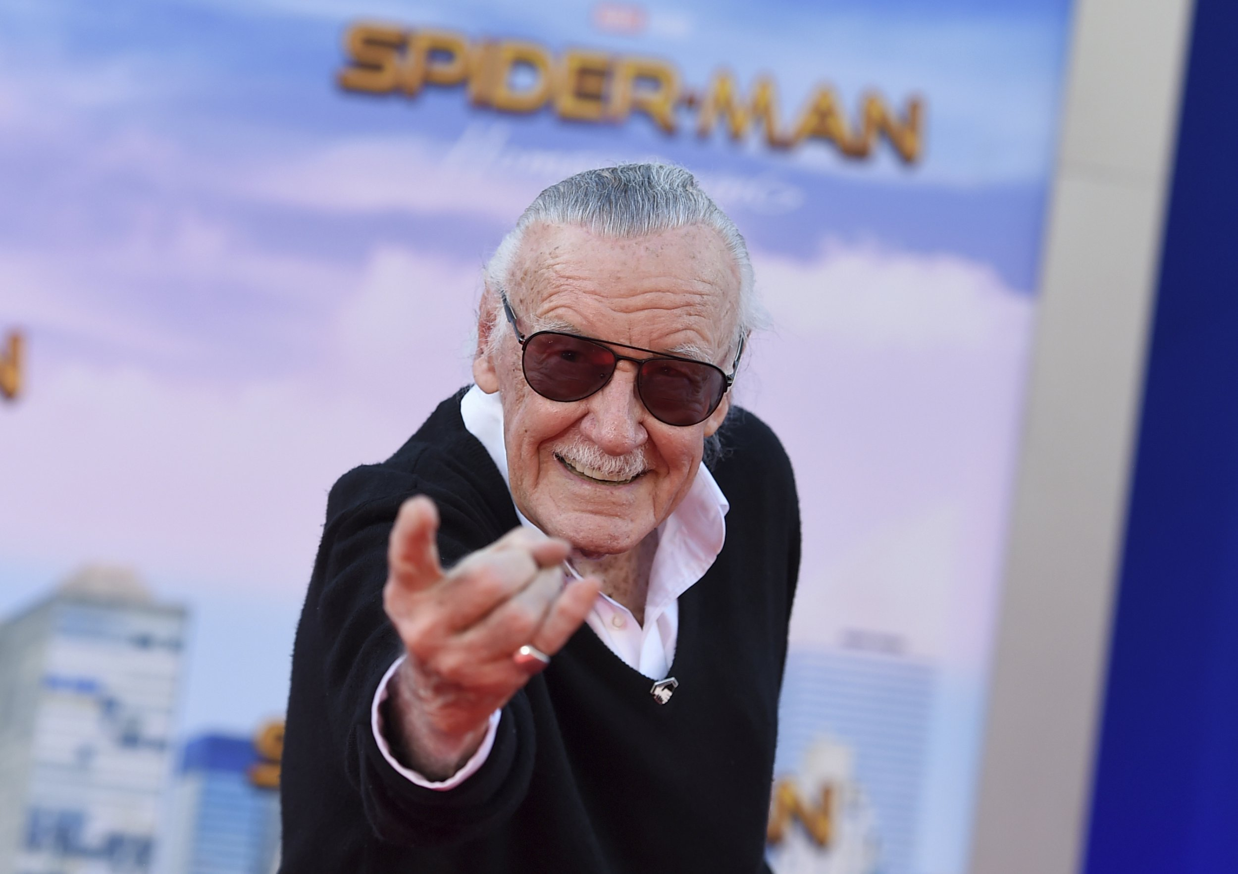 Stan Lee at a Spider-Man: Homecoming premiere at the TCL Chinese Theatre