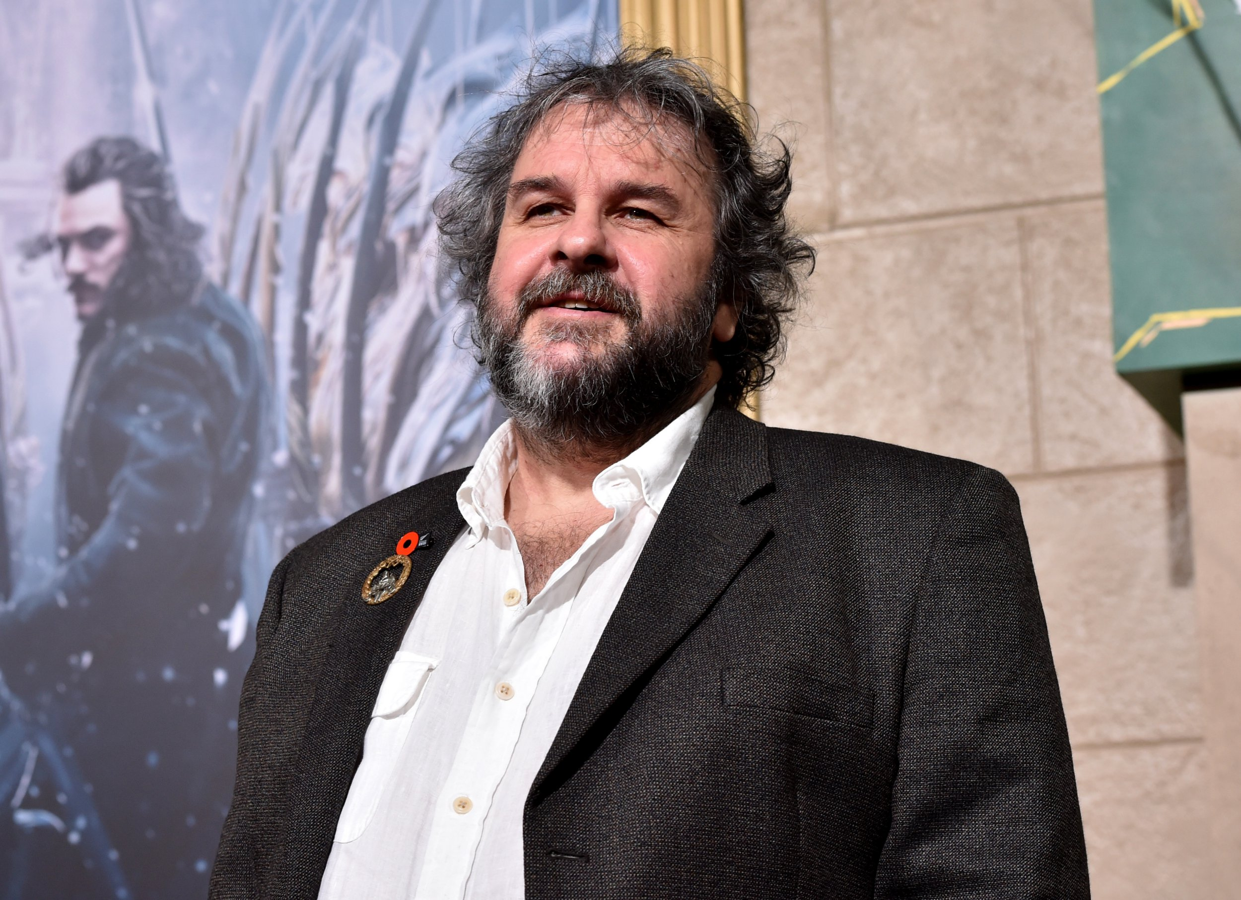 """HOLLYWOOD, CA - DECEMBER 09: Writer/director/producer Peter Jackson attends the premiere of New Line Cinema, MGM Pictures and Warner Bros. Pictures' """"The Hobbit: The Battle of the Five Armies"""" at Dolby Theatre on December 9, 2014 in Hollywood, California. (Photo by Kevin Winter/Getty Images)"""