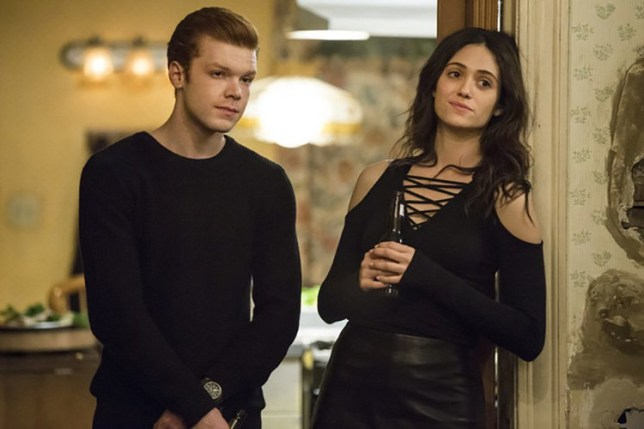 Emmy Rossum and Cameron Monaghan on Shameless US