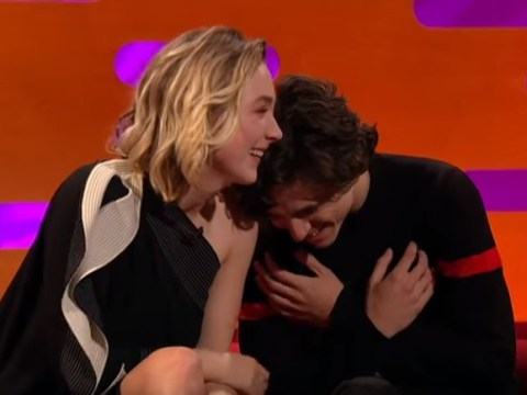 Saoirse Ronan's Shrek impression has Timothée Chalamet next level howling and you will be too