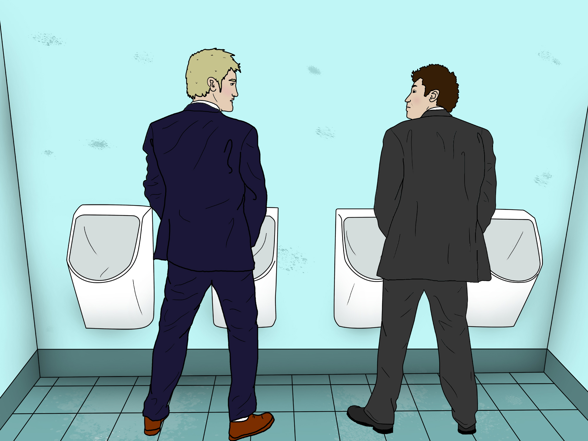 Men reveal the unspoken rules of using a public urinal