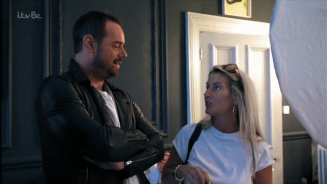 Danny Dyer's wife Joanne joked she would be putting him up for Love Island 2019 (Picture: ITV)