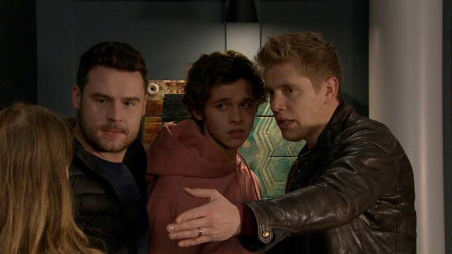 Aaron is furious with Liv and Jacob in Emmerdale