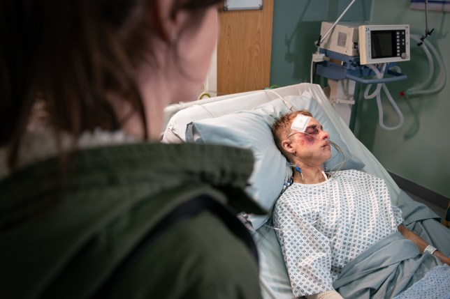 Clayton is beaten up in Coronation Street and Shona visits him