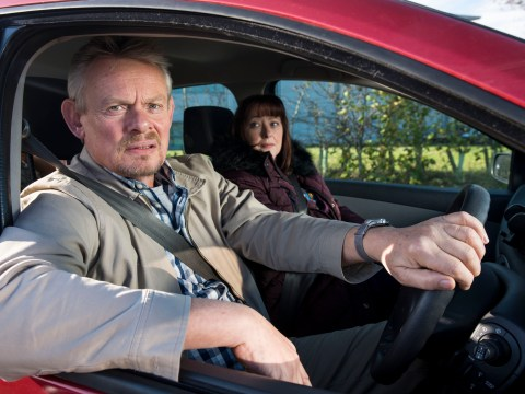 Martin Clunes clashes with passerby after Warren stunt saw him run over a cat