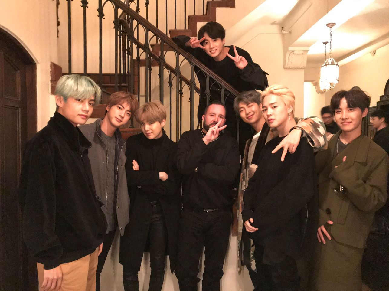 BTS hint at Grammys outfits as they hang out with Dior designer