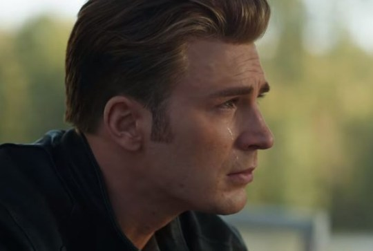 Captain America crying in Endgame trailer