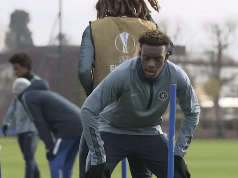 Ethan Ampadu mocks Callum Hudson-Odoi after winning agility test in Chelsea training