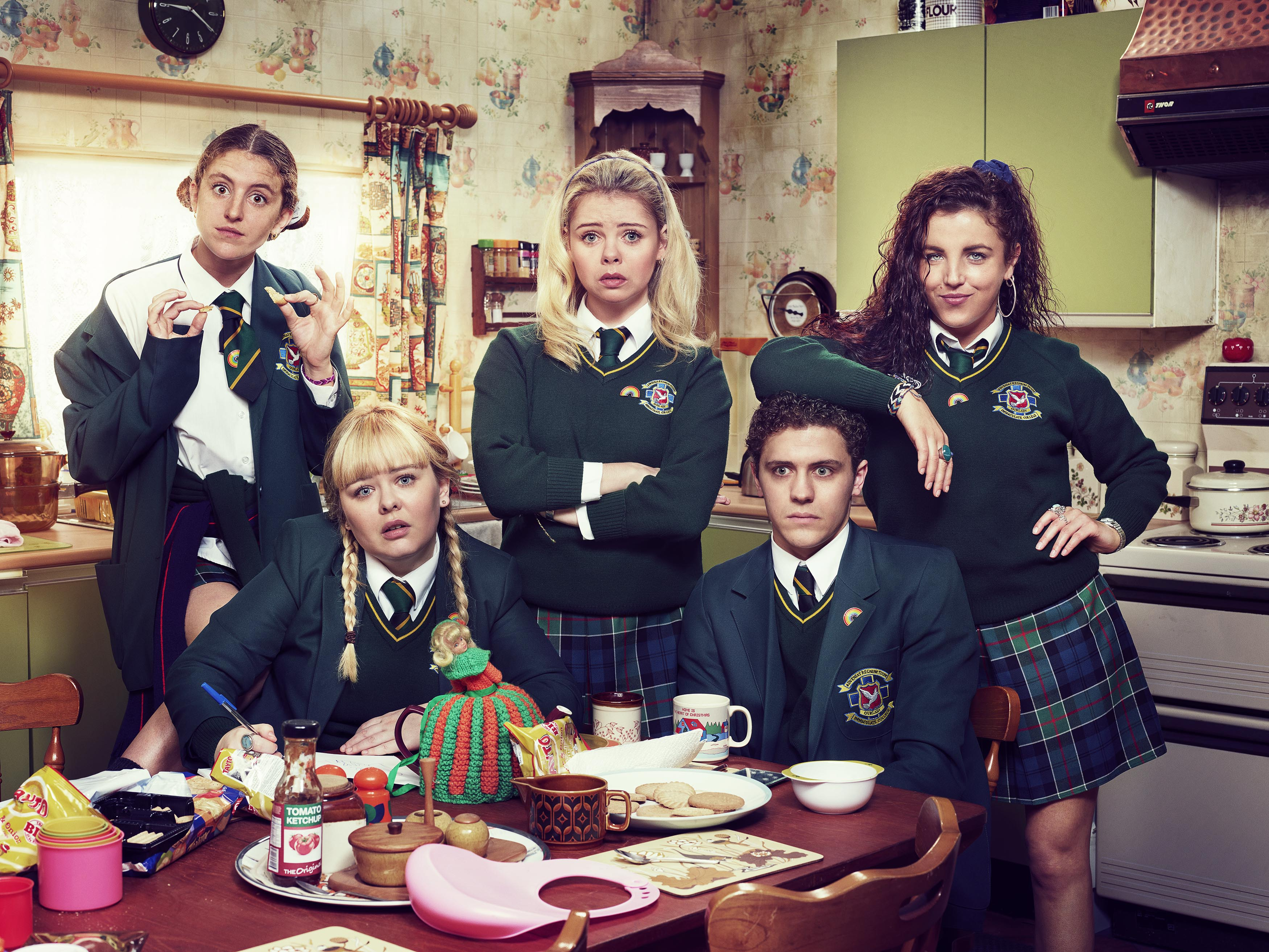 Derry Girls fans notice the gang have been wearing rainbow pins to support Clare after coming out