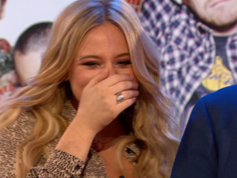 Emily Atack jokes about getting a restraining order as she freaks out over Busted