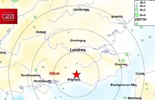 Gatwick earthquake map shows epicentre of tremor that struck Southwater