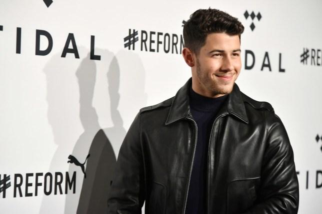 Nick Jonas at a press event