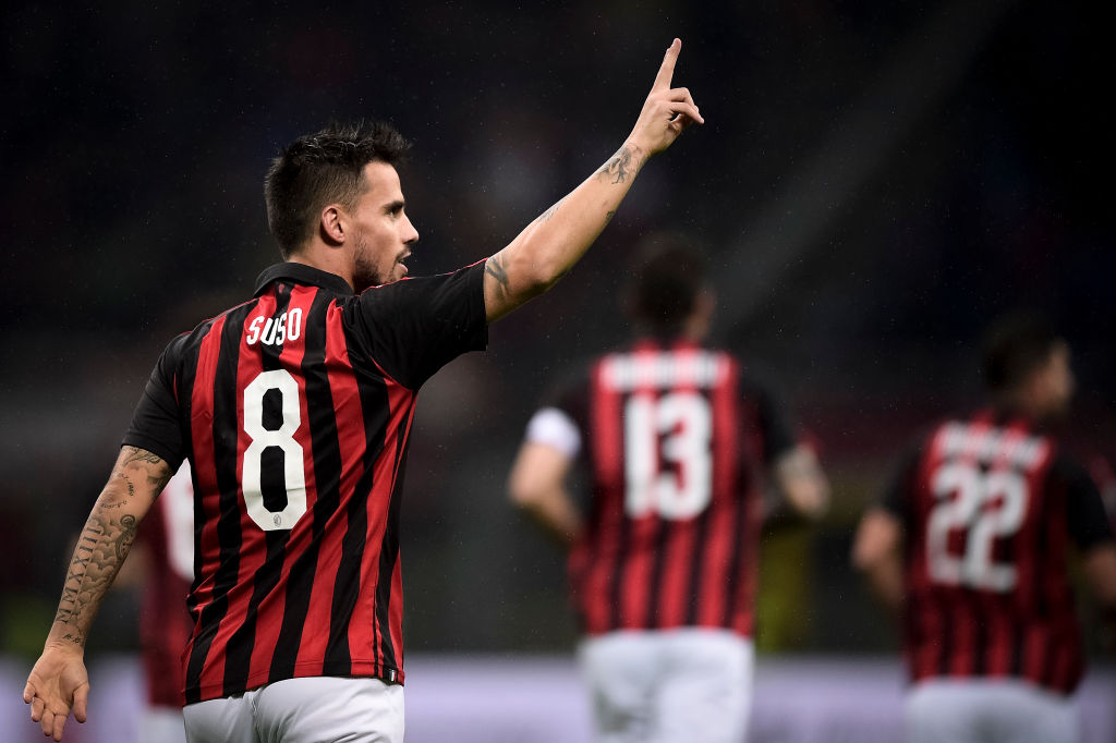 Arsenal and Tottenham holds talks to seal transfer for AC Milan star Suso