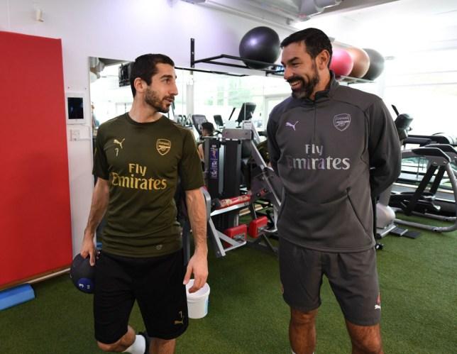 Arsenal news: Robert Pires watches Gunners training as he backs Marc Overmars for top job