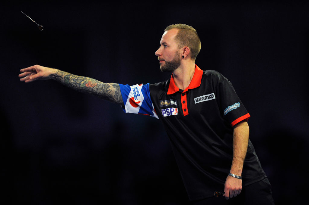 Watch Danny Noppert's nine-darter as Scott Baker also lands perfect leg in Barnsley