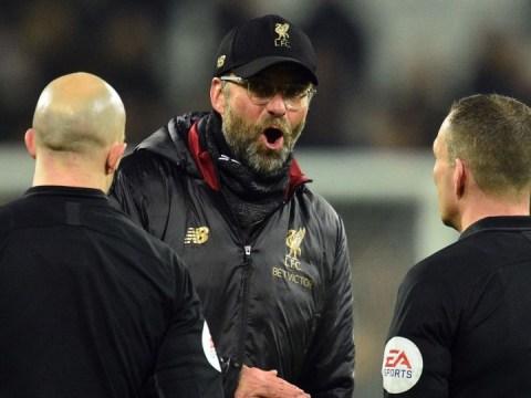 Jurgen Klopp called referee Kevin Friend 'arrogant' in confrontation after Liverpool's draw against West Ham