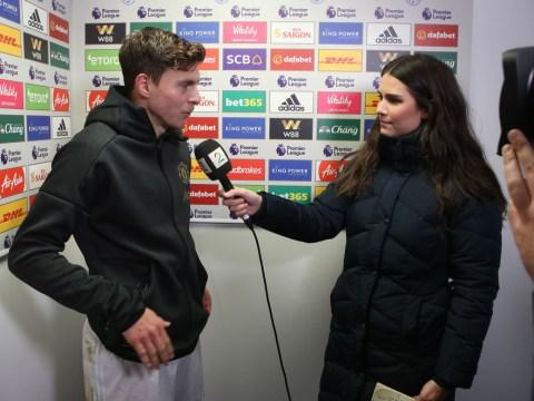 Ole Gunnar Solskjaer interrupts Victor Lindelof interview to praise Manchester United defender