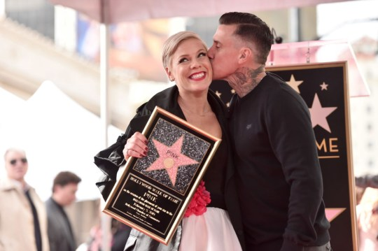 Pink can't believe her eyes as husband Carey Hart pens sweet love letter and we're crying