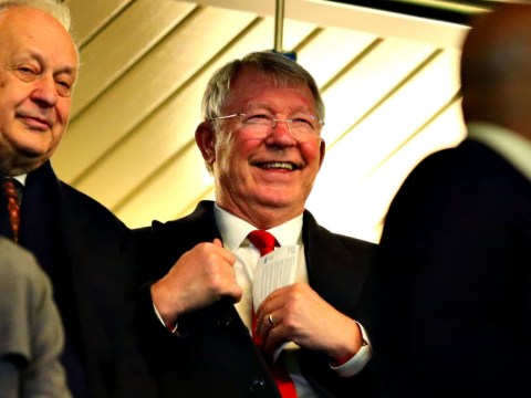 Sir Alex Ferguson stops to chat to Manchester United trio after Chelsea win
