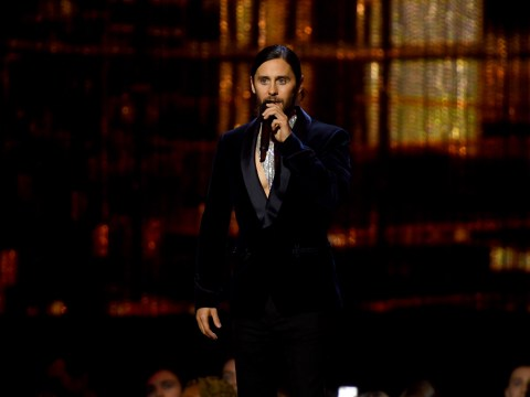 Jared Leto serves looks as he glams up for the Brit Awards
