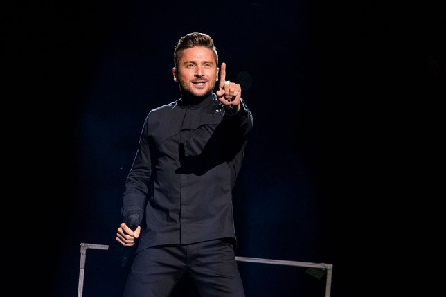 Sergey Lazarev performing at Eurovision