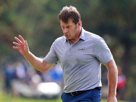 Sir Nick Faldo mocks Sergio Garcia by imitating his destructive behaviour at Pebble Beach