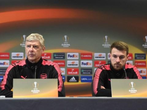 Arsene Wenger reacts to Aaron Ramsey leaving Arsenal to join Juventus