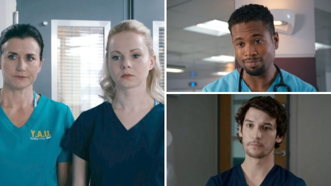 It's another stressful day for this lot in Holby City