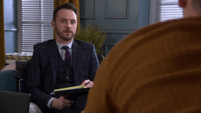 James talks to Harry in Hollyoaks