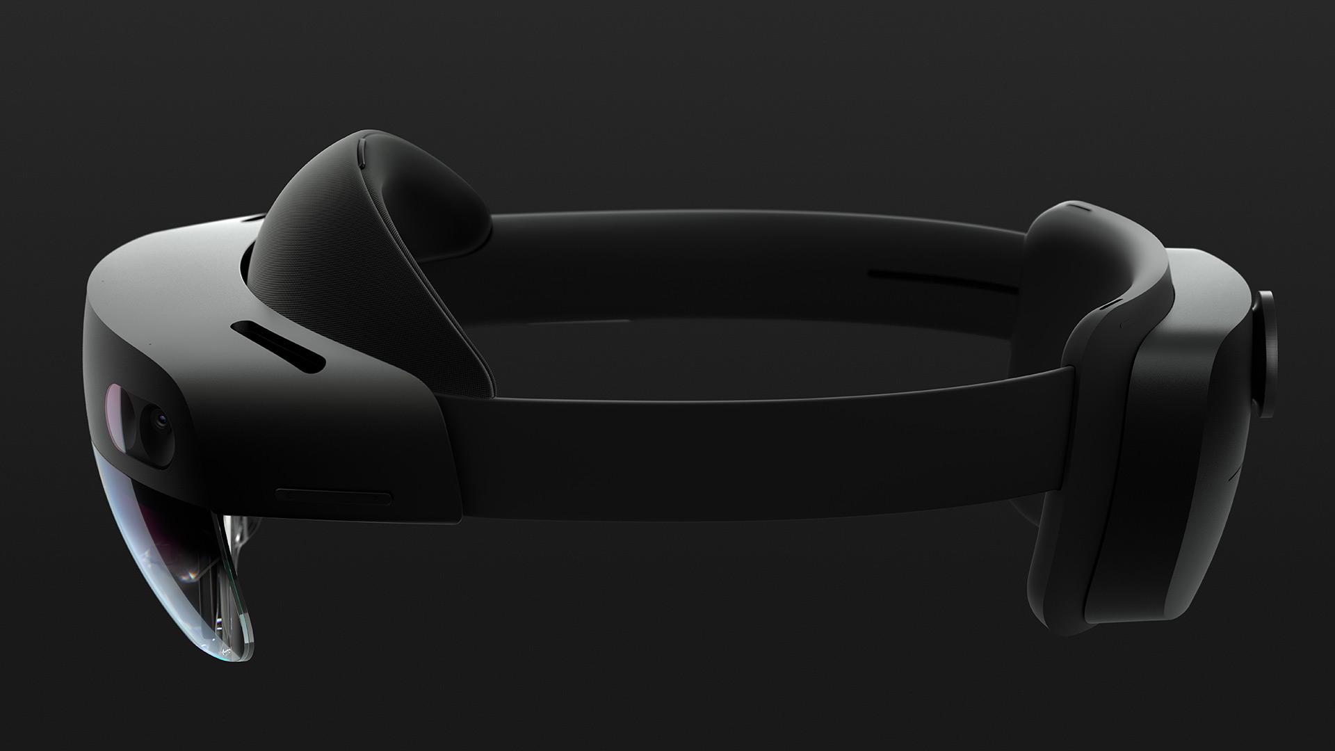 Microsoft's new, carbon fibre HoloLens 2 (Microsoft)