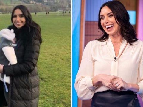Christine Lampard chokes up as she talks motherhood in emotional return to TV following birth of daughter