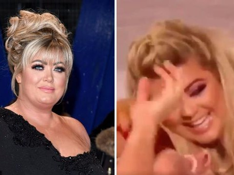 Gemma Collins fears she'll take a tumble on DOI as she falls over again in rehearsals
