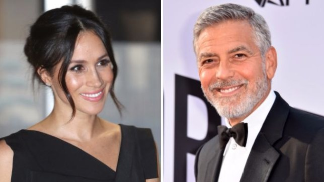 Meghan Markle and George Clooney