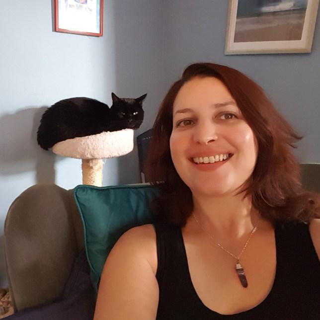 Eve Menezes Cuningham and her cat